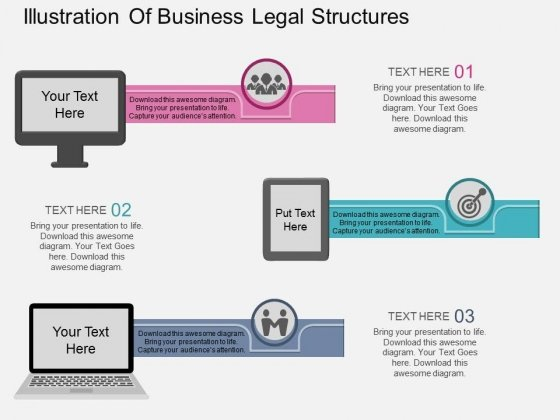Illustration Of Business Legal Structures Powerpoint Template