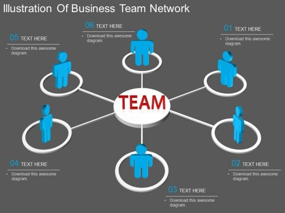 Illustration Of Business Team Network Powerpoint Template