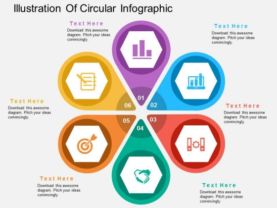 Illustration Of Circular Infographic Powerpoint Template