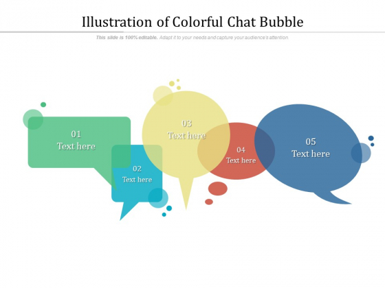 Illustration Of Colorful Chat Bubble Ppt PowerPoint Presentation File Picture