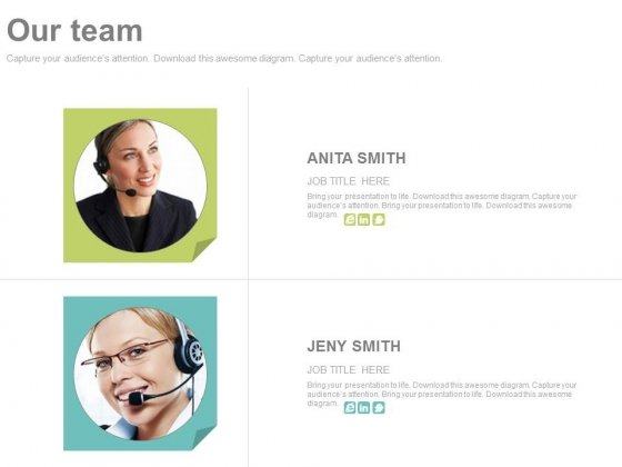 Illustration Of Customer Care Team Powerpoint Slides