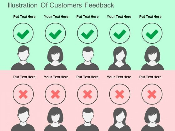 Illustration Of Customers Feedback Powerpoint Templates