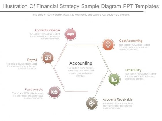 Illustration Of Financial Strategy Sample Diagram Ppt Templates