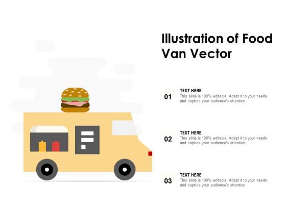 Illustration Of Food Van Vector Ppt PowerPoint Presentation Icon Diagrams