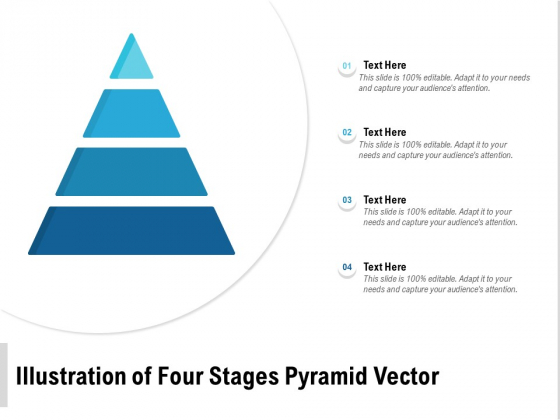 Illustration Of Four Stages Pyramid Vector Ppt PowerPoint Presentation Layouts Shapes