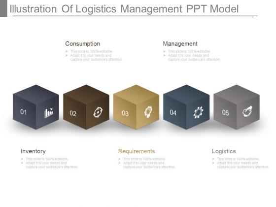 Illustration Of Logistics Management Ppt Model