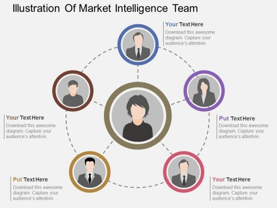 Illustration Of Market Intelligence Team Powerpoint Template