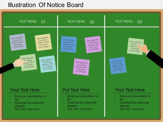 Illustration Of Notice Board PowerPoint Template