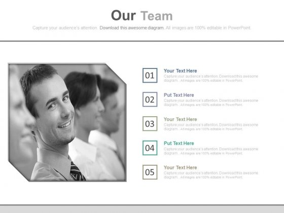 Illustration Of Professional Team Members Powerpoint Slides
