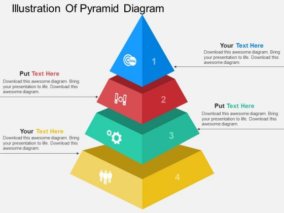 Illustration Of Pyramid Diagram Powerpoint Template