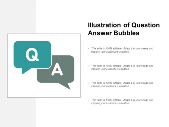 Illustration Of Question Answer Bubbles Ppt PowerPoint Presentation Gallery Demonstration