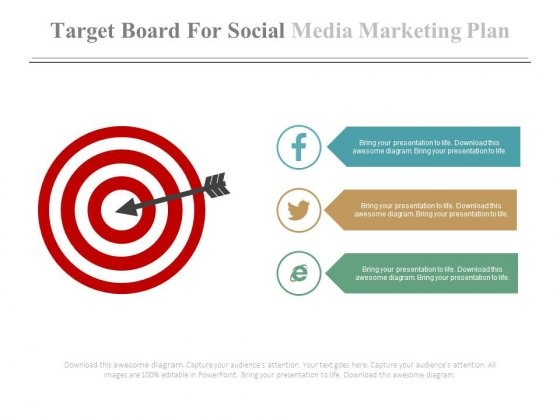 Illustration Of Social Media Targeting Powerpoint Slides