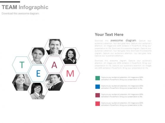 Illustration Of Team Collaboration Powerpoint Slides
