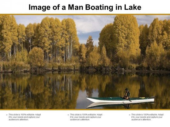 Image Of A Man Boating In Lake Ppt PowerPoint Presentation Inspiration Outfit