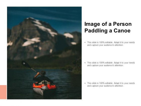 Image Of A Person Paddling A Canoe Ppt PowerPoint Presentation Icon Slides