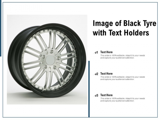 Image Of Black Tyre With Text Holders Ppt PowerPoint Presentation Slides Introduction