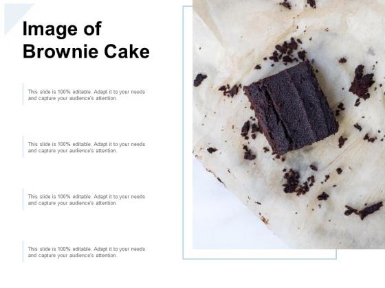 Image Of Brownie Cake Ppt PowerPoint Presentation Summary Slideshow