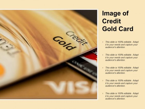 Image Of Credit Gold Card Ppt PowerPoint Presentation Pictures Background Images