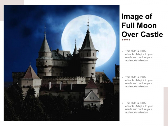 Image Of Full Moon Over Castle Ppt PowerPoint Presentation Pictures Guidelines
