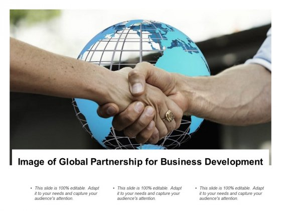 Image Of Global Partnership For Business Development Ppt PowerPoint Presentation Slides Backgrounds