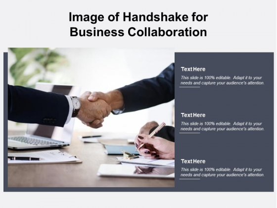 Image Of Handshake For Business Collaboration Ppt PowerPoint Presentation Layouts Ideas