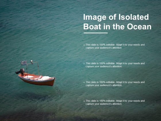 Image Of Isolated Boat In The Ocean Ppt PowerPoint Presentation Model Background Designs