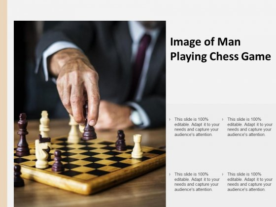 Image Of Man Playing Chess Game Ppt PowerPoint Presentation Outline Demonstration