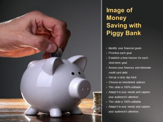 Image Of Money Saving With Piggy Bank Ppt PowerPoint Presentation Portfolio Summary