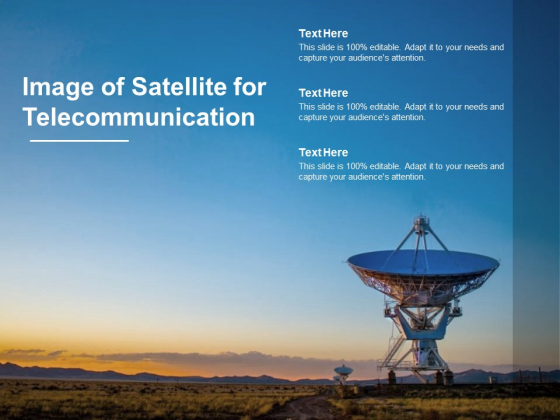 Image Of Satellite For Telecommunication Ppt PowerPoint Presentation Infographics Clipart