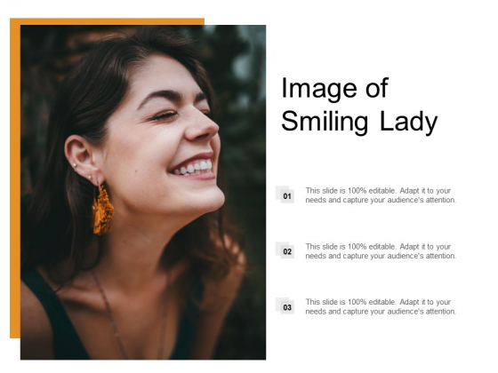 Image Of Smiling Lady Ppt Powerpoint Presentation Layouts Images