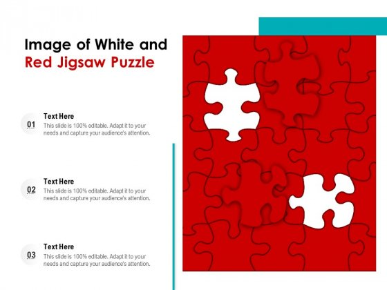 Image Of White And Red Jigsaw Puzzle Ppt PowerPoint Presentation Gallery Introduction PDF