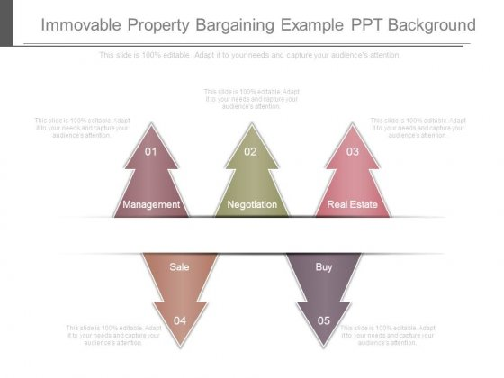 Immovable Property Bargaining Example Ppt Background