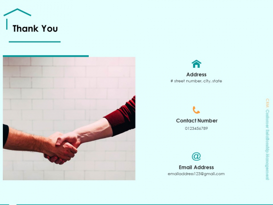 Immovable Property CRM Thank You Ppt PowerPoint Presentation Professional Slide Portrait