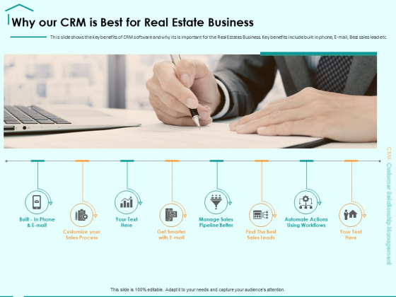 Immovable Property CRM Why Our CRM Is Best For Real Estate Business Ppt PowerPoint Presentation Professional Templates