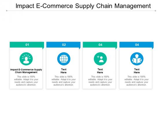 Impact E Commerce Supply Chain Management Ppt PowerPoint Presentation Portfolio Ideas
