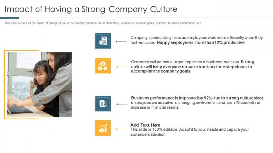 Impact Of Having A Strong Company Culture Download PDF