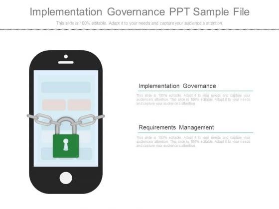 Implementation Governance Ppt Sample File