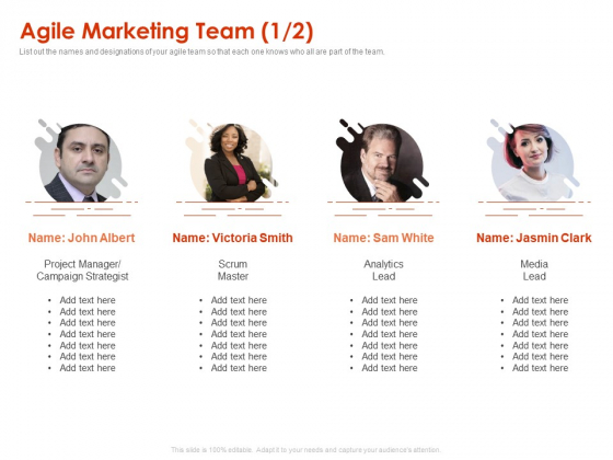 Implementing Agile Marketing In Your Organization Agile Marketing Team Project Ppt File Model PDF