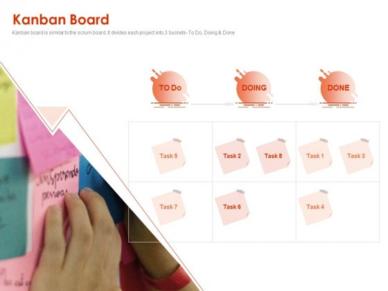 Implementing Agile Marketing In Your Organization Kanban Board Ppt Gallery Microsoft PDF