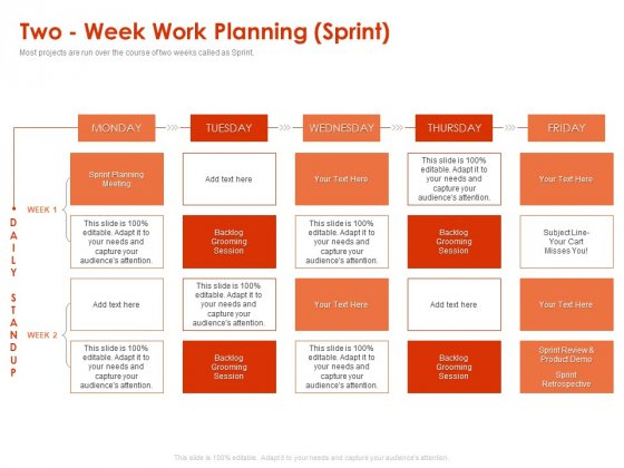 Implementing Agile Marketing In Your Organization Two Week Work Planning Sprint Ppt Infographics Graphics Pictures PDF
