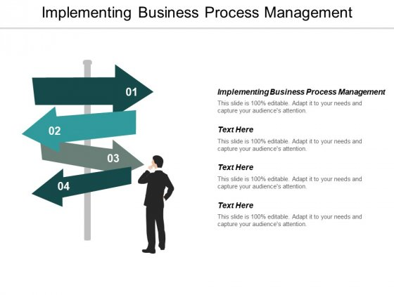 Implementing Business Process Management Ppt PowerPoint Presentation Professional Master Slide Cpb
