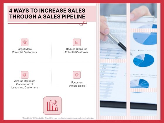 Implementing Compelling Marketing Channel 4 Ways To Increase Sales Through A Sales Pipeline Icons PDF