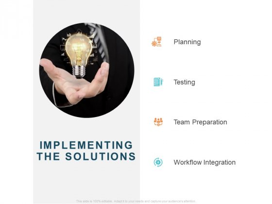 Implementing Digital Asset Management Implementing The Solutions Ppt Icon Show PDF