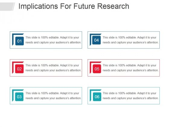 Implications For Future Research Ppt PowerPoint Presentation Ideas Show