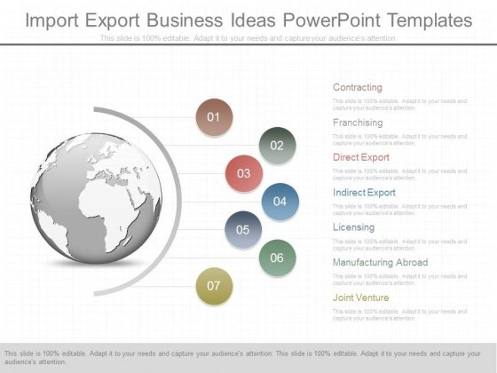 Import Export Business Ideas Powerpoint Templates