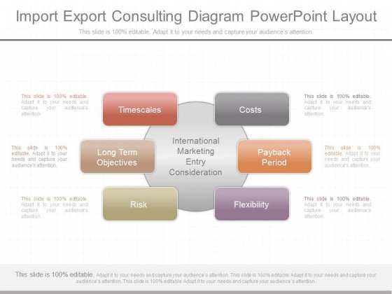 Import Export Consulting Diagram Powerpoint Layout