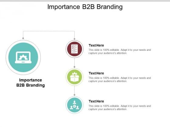 Importance B2B Branding Ppt PowerPoint Presentation Icon Background Cpb