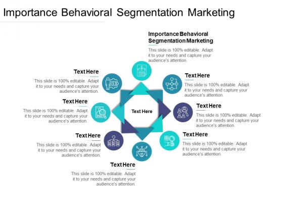 Importance Behavioral Segmentation Marketing Ppt PowerPoint Presentation Ideas Deck Cpb Pdf