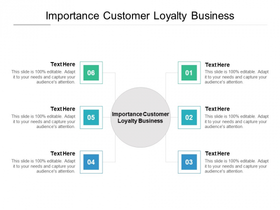 Importance Customer Loyalty Business Ppt PowerPoint Presentation Model File Formats Cpb Pdf