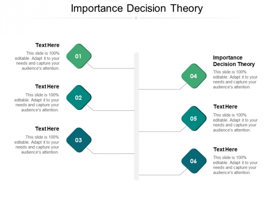 Importance Decision Theory Ppt PowerPoint Presentation Professional Background Image Cpb